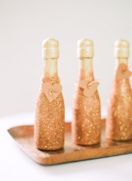 Glitter home invasion rhapsody in rooms for How to glitter wine bottles