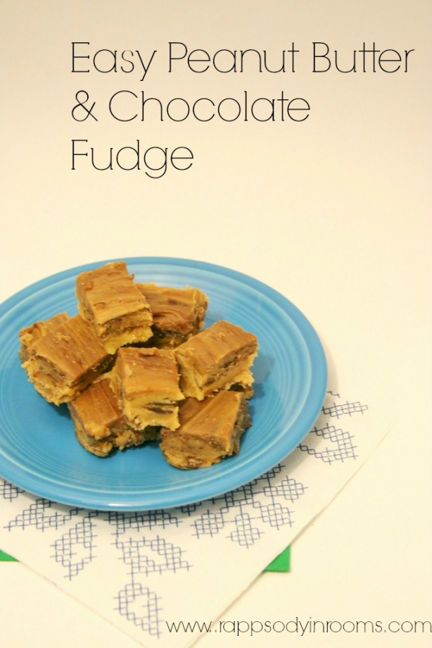 Quick & Easy Peanut Butter Chocolate Fudge - Rhapsody in Rooms