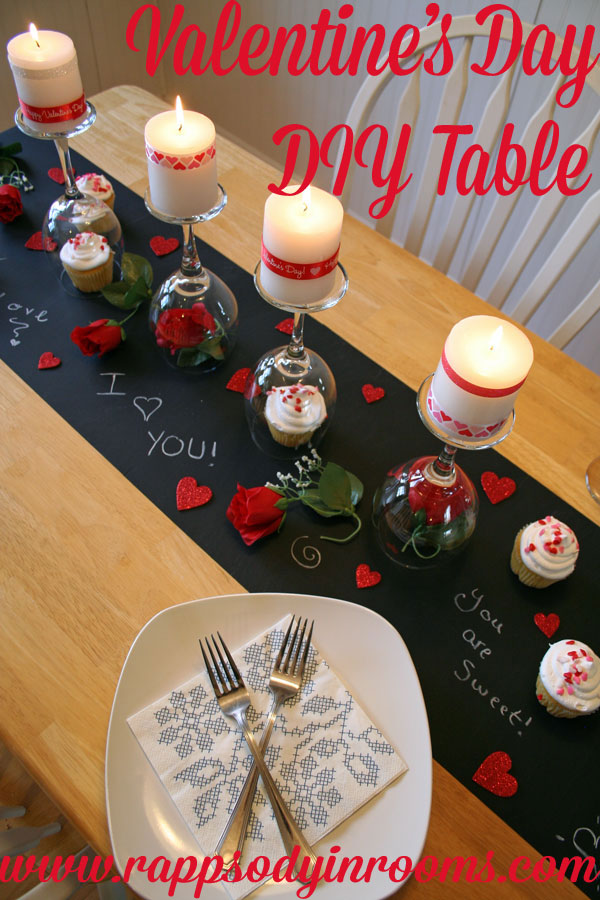 valentine 39 s day diy dinner tablescape rhapsody in rooms