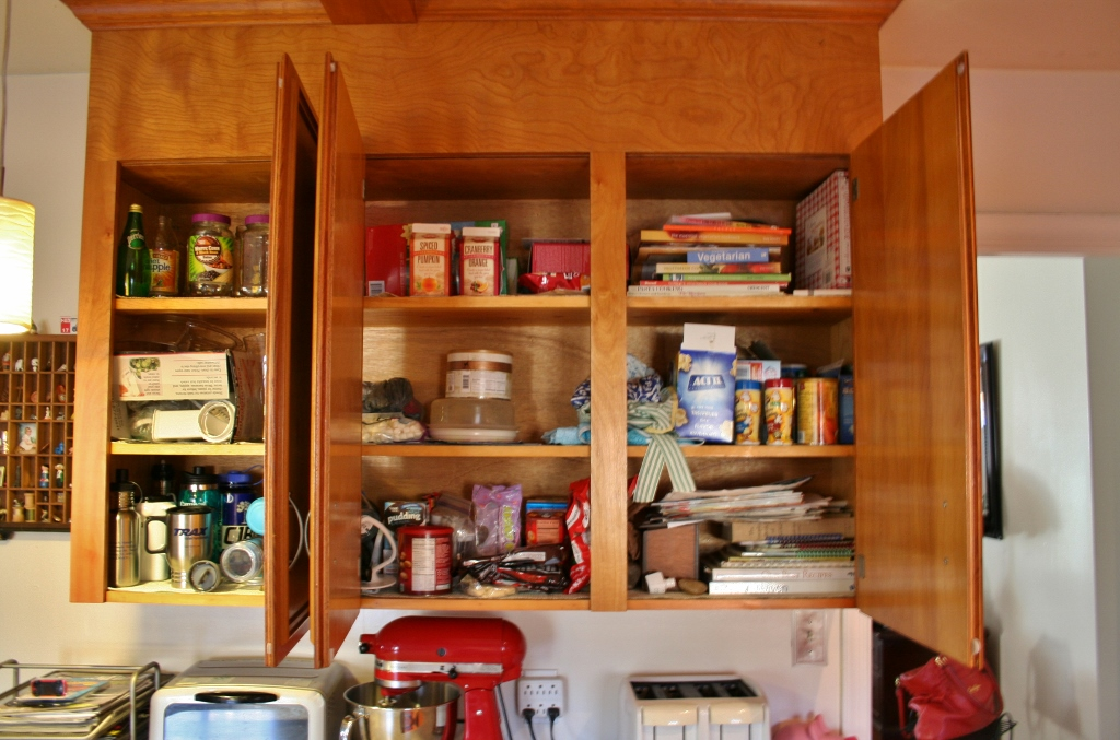 Organizing Kitchen Cabinets With A Cork Message Center Rhapsody In Rooms
