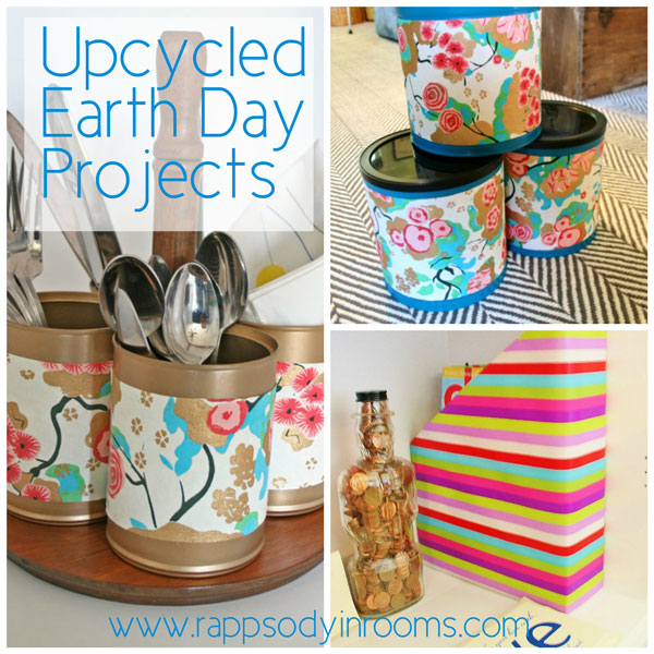 Upcycled Earth Day Projects | www.rappsodyinrooms.com