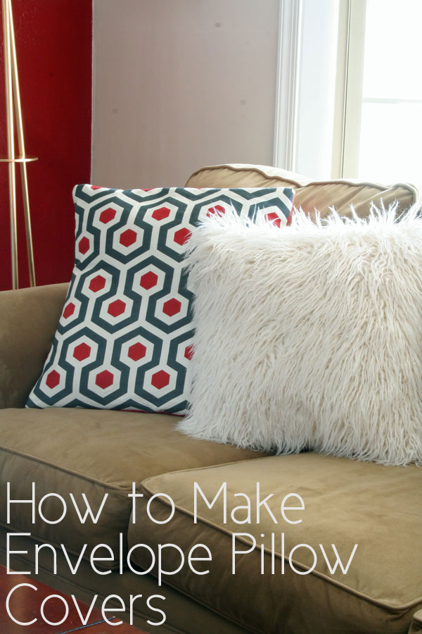 How to Make Envelope Pillow Covers | www.rappsodyinrooms.com
