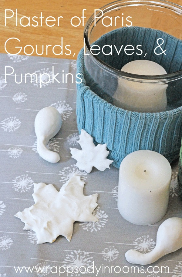 Fall Craft Plaster Of Paris Gourds Leaves And Pumpkins